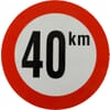 Sticker 40 km België 150mm