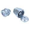 Bolted-brake coupling, flat seal, male