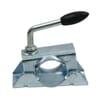 Clamp bracket for trailer wheel jacks