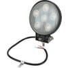 Work light LED, 27W, 1850lm, round, 10/30V, Flood, 6 LED's, gopart
