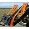 Hydraulical handling for front-loader accessories