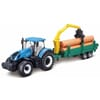 New Holland T7.315 tractor met houttrailer