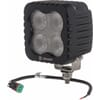 Work light LED, 80W, 4500lm, square, 12/48V, white, 122x127x70mm, Deutsch 2-pin, Heated, Flood, 4 LED's, Kramp