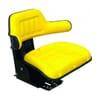 PVC seat, rear mechanical suspension, yellow
