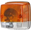 Direction and position light 21W, square, 12V, amber/transparent, bolt on, 84x84mm, Hella