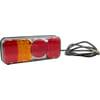 Multifunction rear LH light LED, rectangular, 12-24V, 200.5x85x40mm, Kramp