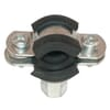 RS pipe clamp from stainless steel with female thread