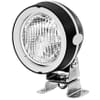 Work light Halogen, 55/70W, round, 12/24V, transparent, housing: grey, 110x103x170mm AMP plug, Hella