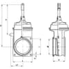 MZ double flanged valves flanged with extra large head chamber
