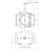 """MZ three-ways valve 6"""" with replaceable sealing"""