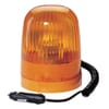 Rotating beacon Halogen, round, 24V, amber, housing: yellow, magnetic, Ø 136mm x172.5mm, Junior by Hella