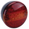 Rear light LED, round, 24V, amber/red, bolt on, Ø 140mm, Britax