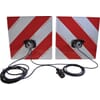 Hazard sign set - with lights 2 sides fixed mounting