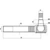 Kogelkop met binnendraad - lang - vanaf 140mm