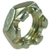 DIN 937 flat crown nuts, metric 14 H zinc-plated