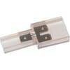 Flat plug connector 1/2/1-pole