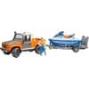 U02599 Land Rover Defender mit Anhänger, Personal Water Craft und Fahrer