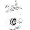 14 Zadné koleso DVL vhodný pre Kongskilde CVL