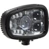 Headlight LED, RH 55W, rectangular, 12-24V, 214x172x110mm Deutsch plug, Heated, Kramp