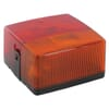 Rear light square, 12V, amber/red, bolt on, 102x55x98mm, Hella