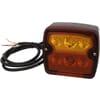 Rear light LED, square, 12/24V, orange/red, 97.4x105.4x49.5mm, 9 LED's, Kramp
