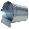Drinking bucket for poultry, galvanized