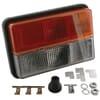 Direction and position light rectangular, 12V, white/amber/red, bolt on, Rubbolite