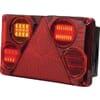 Multifunction rear LH light LED, rectangular, 12-24V, 232x142x59mm, Kramp