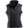 Dame vest hybrid fleece