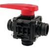 Ball valve 3 ways T6