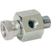 Adaptor M/F swivel BSP VNBW+measure point