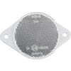 Round reflector, white, screw-on, Kramp/gopart