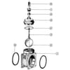 """MZ flensafsluiter met extra grote bovenkap 6"""" onderdelen - oud model"""