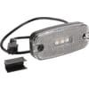 Marker light LED, rectangular, white, bolt on