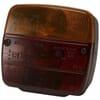 Rear light LH square, 12/24V, red/amber, bolt on, 105x100x52mm, Ajba