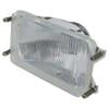 Headlight insert Halogen, rectangular, transparent, 167x74x106.7mm, Cobo