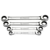 64.J4 M Set of double 12-point ring spanners with ratchet, metric