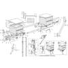 Gaspardo ST 300 - Réservoirs de micro granulat et dispositif de dosage