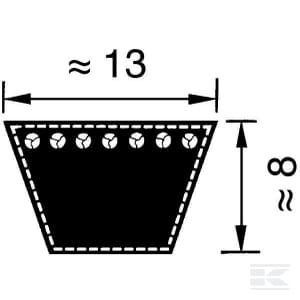 a53 13x1350 li clásica correas trapezoidales después de din2215