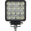 Work light LED, 25W, 3040lm, square, 10/30V, 108x48x108mm, Spot beam, 16 LED's, Kramp