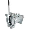 Female 6'' flanged with quick release 20° + outlet Perrot