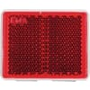 Reflector square red, self-adhesive, kramp/gopart