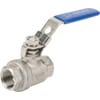 Stainless steel ball valve - Female thread (BSP) x Female thread (BSP) - Short version