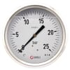 Pressure gauge rear connection, 100 mm, stainless steel, filled with glycerine