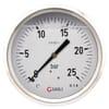 Manometer aansluiting achter 100 mm roestvast staal met glycerine gevuld