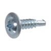 DIN 7504F self-drilling screws with cross-slot raised head and flange, zinc-plated