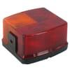Rear light square, 12V, amber/red, bolt on, 95x54.5x90mm, Hella