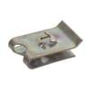 Clip-on nut, U-shaped for flat-head screws