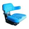 PVC seat, rear mechanical suspension, blue