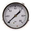 Pressure gauge rear connection, 63 mm, stainless steel, filled with glycerine
